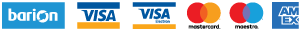 A kényelmes és biztonságos online fizetést a Barion Payment Zrt. biztosítja, MNB engedély száma: H-EN-I-1064/2013. Bankkártya adatai áruházunkhoz nem jutnak el.